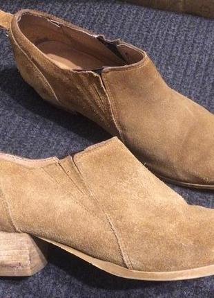 Next кожаные замшевые ботильоны ботинки