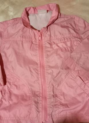 Розовый дождевик на девочку, 12-18мес.