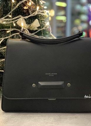 Клатч david jones td013 black оригинал черная сумка кросс боди