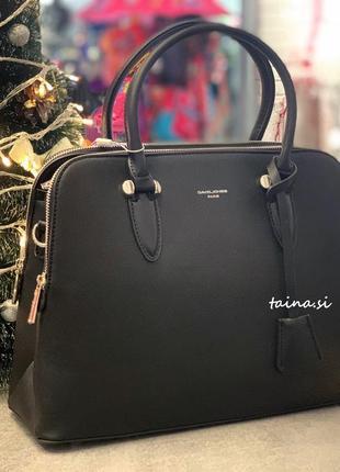 Женская классическая сумка david jones 6207-2t black оригинал