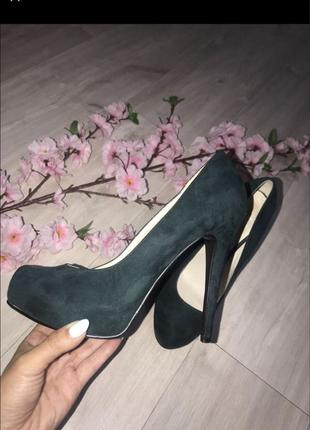 Туфли женские изумрудного цвета лето