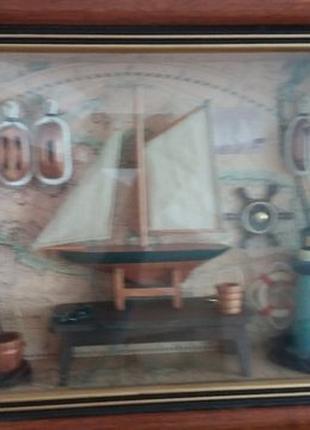 Картина под стеклом морская тематика