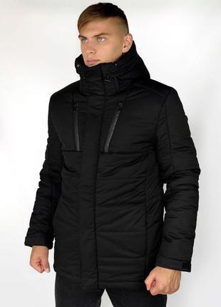 Зимняя куртка  intruder черная