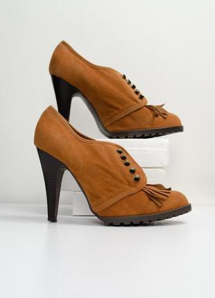 Sale atmosphere коричневые ботильоны, закрытые туфли на каблук...