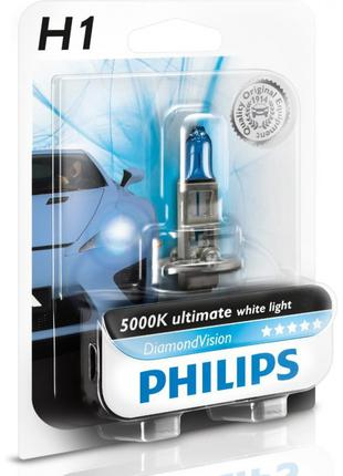 Автолампа PHILIPS 12258DVB1 H1 55W 12V P14,5s Diamond Vision