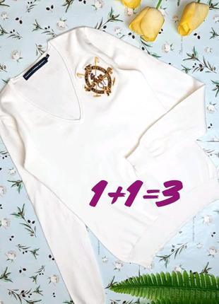 🎁1+1=3 стильный белый свитер лонгслив ralph lauren оригинал,  ...