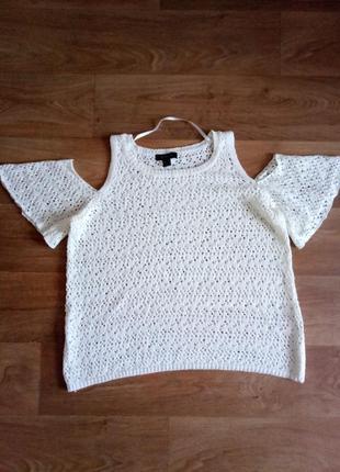 Красивая ажурная кофточка блузка с открытыми плечами ,большой ...