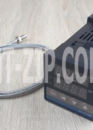 Цифровой ПИД-регулятор температуры REX-C100 (релейный выход) +...