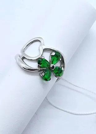 Серебряное кольцо с клевером