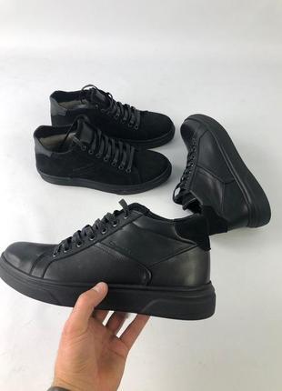 Lux обувь! качественные натуральные кожаные зимние мужские бот...