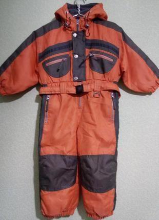 Утеплённый комбинезон для мальчика 3-4 года,104 см