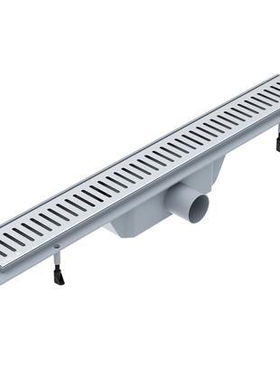 """Линейный трап 600мм, система сухой затвор, с решеткой """"линия"""""""