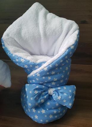 Конверт на выписку для новорожденных с бантиком