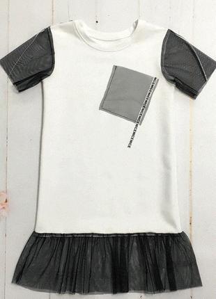 Оригинальное платье летнее для девочки.