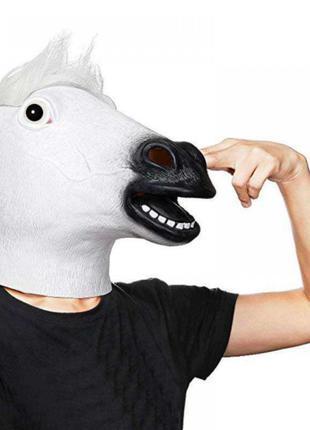 Маска голова лошади (коня) белая