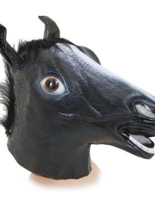 Маска голова лошади (коня) черная
