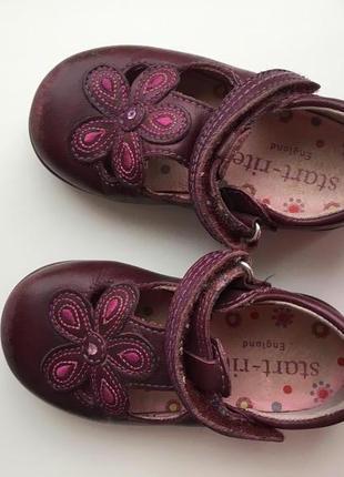Кожаные туфли clarks для первых шагов размер 20 стелька 13,5см