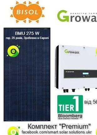 """Мережева СЕС - 10 кВт для Зеленого тарифу """"Під ключ"""" (PREMIUM)"""