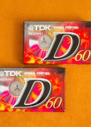 Аудио кассета, новая, TDK D 60