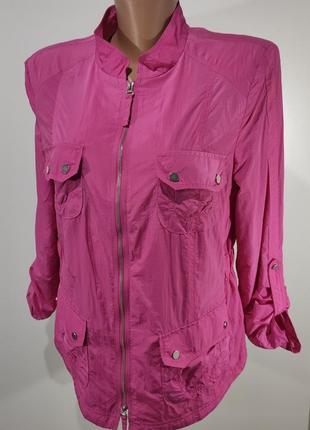 Качественная яркая розовая ветровка bonita размер 42