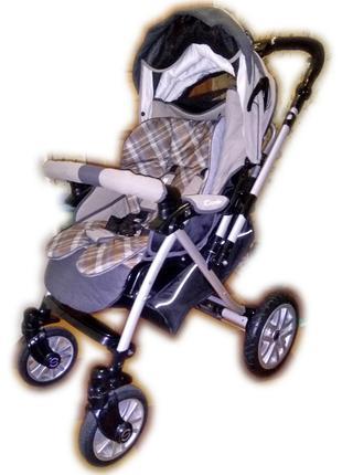 Детская всесезонная прогулочная коляска Capella S-803 Beige