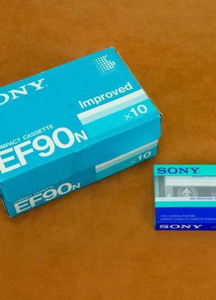 Аудио кассета, новая, Sony EF90 (Made in Japan)