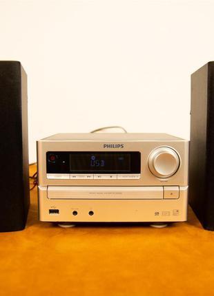 Микросистема Philips MCM2000 (CD, AUX, FM, USB)