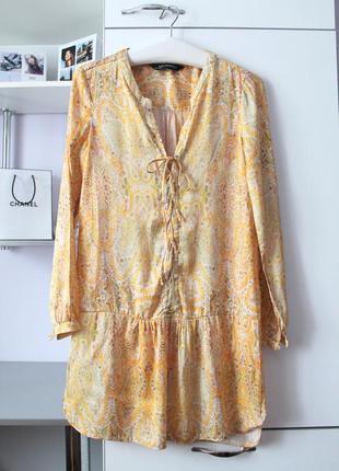 Удлиненная блуза в восточном стиле от zara