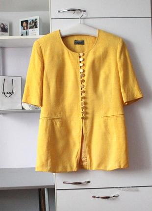 Шикарный шелковый желтый винтажный костюм от sporting dress