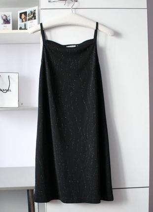 Черное блестящее платье от florence