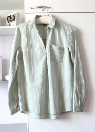 Мятная рубашка в полоску от new look