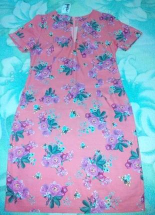 Красивое платье с розами
