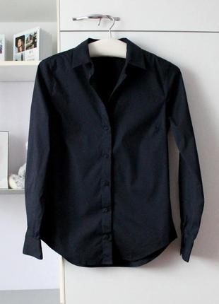 Темно синяя базовая рубашка от zara