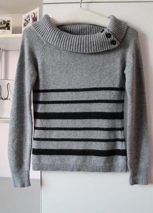 Серый свитер с ангорой от caroll