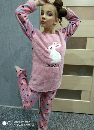 Пижама девочке и подростку флисс