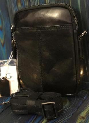 Кожаная мужская сумка (италия)