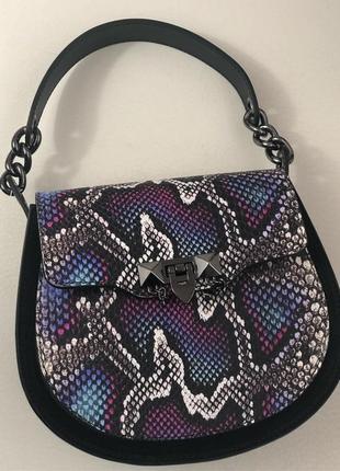 Женская кожаная сумка с принтом (италия)