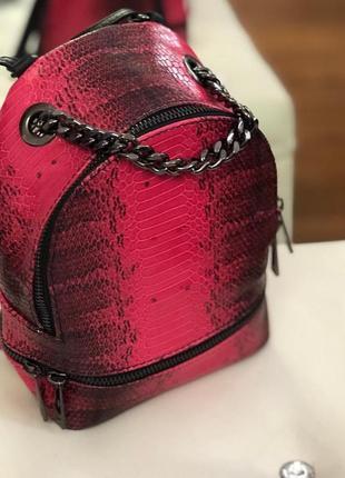 Маленький рюкзак-сумка из натур. кожи