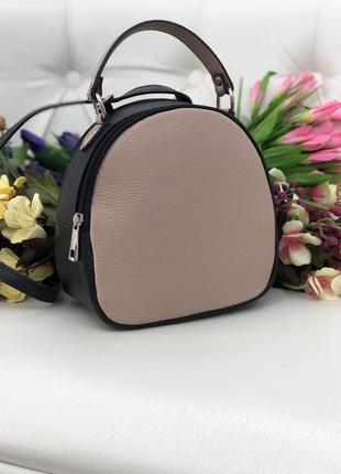 Кожаный рюкзак-сумка италия