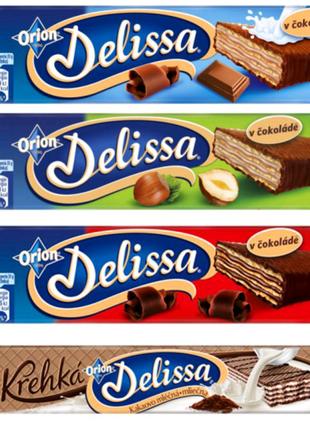 Вафлі Delissa Orion Мікс Шоколад орех какао Вафли