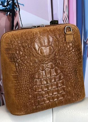 Женская сумка (натуральный замш, италия)