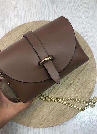 Коричневая кожаая сумка