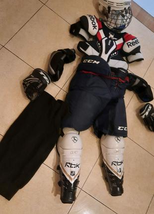 Хоккейная форма, легинсы, комбинизон под форму, ракушка, коньки