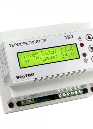 Терморегулятор ТК-7, +5.…+35°С 6А с датчиками, DigiTOP