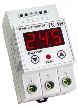 Терморегулятор ТК-4H, 0…+125°С 16А с датчиком, DigiTOP