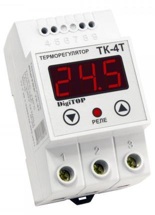 Терморегулятор ТК-4T, +5…+40°С 16А с датчиком, DigiTOP