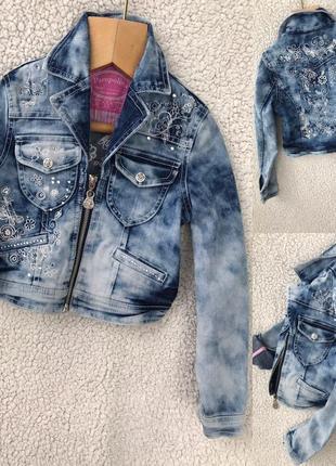 Стильная джинсовочка с вышивкой идеал 5 лет