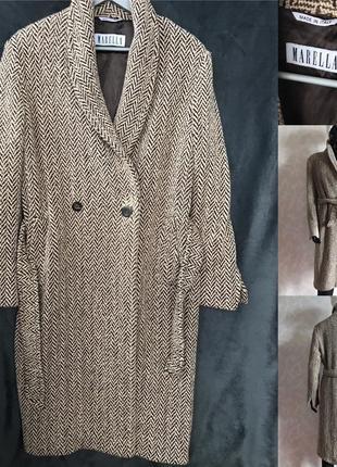 Шикарное итальянское пальто еврозима оверсайз