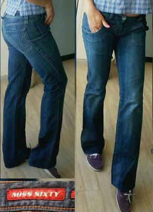 С-м 27-29р miss sixty джинсы синие ,клеш