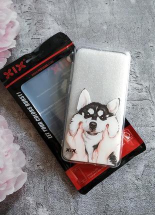 Новый чехол xiaomi mi 6 с хаски,с собачкой